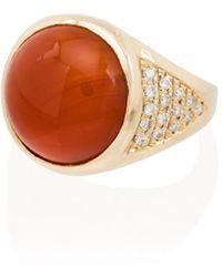 Jacquie Aiche Золотое Кольцо С Бриллиантами - Оранжевый