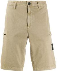 Stone Island Knee-length Cargo Shorts - Natural