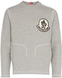 Moncler - Besticktes Sweatshirt - Lyst