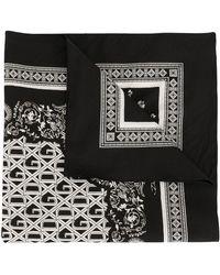 Dolce & Gabbana Sjaal Met Logoprint - Zwart