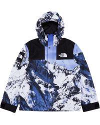 Supreme Supreme X The North Face Mountain Print Parka - Blue
