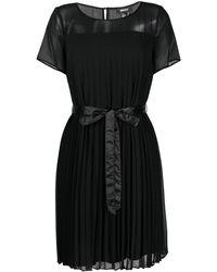 DKNY Pleated Mini Dress - Black