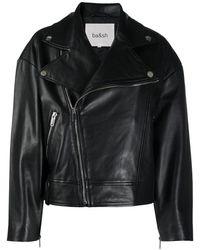 Ba&sh レザー ライダースジャケット - ブラック