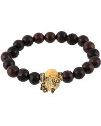 Loree Rodkin Bead Diamond Hamsa Bracelet - Zwart