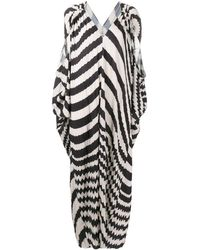 Henrik Vibskov Striped Tunic Dress - Zwart