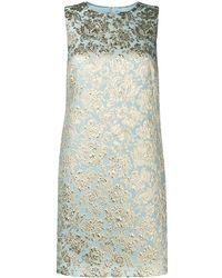 Dolce & Gabbana - Жаккардовое Платье-трапеция - Lyst
