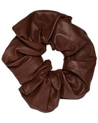 Jil Sander Hair Scrunchie - Brown