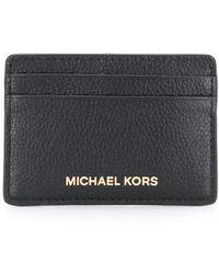 MICHAEL Michael Kors Картхолдер Из Зернистой Кожи - Черный