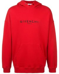 Givenchy ロゴ パーカー - レッド