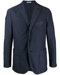 Boglioli Single-breasted Twill Blazer - Blue