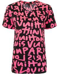 Louis Vuitton プレオウンド グラフィティ Tシャツ - ピンク