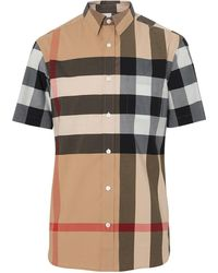 Burberry Chemise à carreaux à manches courtes - Multicolore