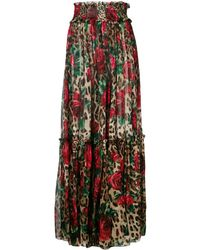 Dolce & Gabbana - Floral Leopard Print Trousers - Lyst