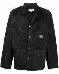 Stussy ロゴ ジャケット - ブラック