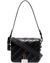 Off-White c/o Virgil Abloh - Black Padded Binder Clip Leather Shoulder Bag - Lyst