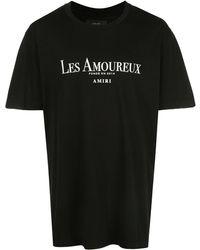 Amiri ブラック Les Amoureux Core T シャツ