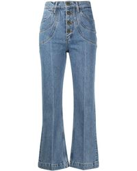 Sandro Alex Cropped Jeans - Blue