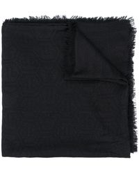 Philipp Plein ロゴ スカーフ - ブラック