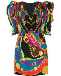 "Versace - Minikleid mit ""Barocco Rodeo""-Print - Lyst"
