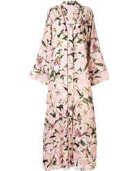 Dolce & Gabbana Robe longue à fleurs - Rose