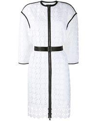 Karl Lagerfeld Karl Circle Lace Coat - White