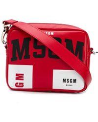 MSGM Logo Crossbody Bag - Red