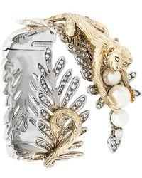 Alberta Ferretti Monkey Leaf Bracelet - Metallic