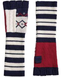 Burberry   Geometric Fingerless Gloves   Lyst