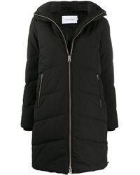 Calvin Klein フーデッド パデッドコート - ブラック