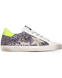 Golden Goose Deluxe Brand Superstar Glitter Sneakers - Meerkleurig