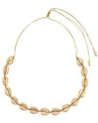 Tohum Beach Shell Necklace - Metallic