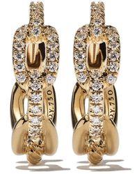 David Yurman 18kt 'Stax' Gelbgoldohrringe mit Diamanten - Mettallic