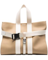 Sunnei Buckled Detail Tote Bag - Brown