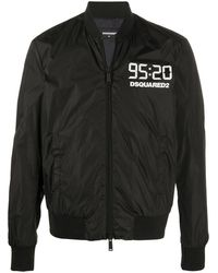 DSquared² Куртка С Высоким Воротником И Логотипом - Черный