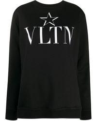 Valentino Vltn Star スウェットシャツ - ブラック