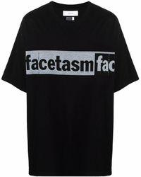 Facetasm ロゴ Tシャツ - ブラック