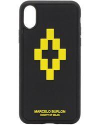 Marcelo Burlon IPhone XS-Hülle mit 3D-Kreuz - Schwarz