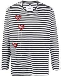 Doublet ストライプ ロングtシャツ - ホワイト