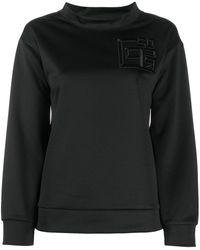 Peserico モックネック スウェットシャツ - ブラック