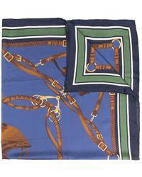 Polo Ralph Lauren プリント スカーフ - ブルー