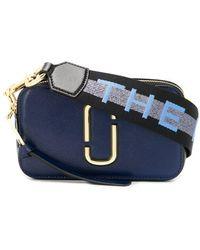 Marc Jacobs The Logo Strap Snapshot Small Camera Bag - Blue