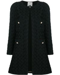 Edward Achour Paris Woven Coat - Black