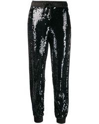 Versace Jeans スパンコール トラックパンツ - ブラック