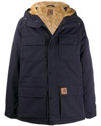 Carhartt WIP フーデッド パデッドジャケット - ブルー
