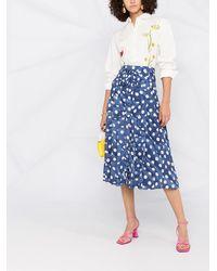 Boutique Moschino ハイウエスト スカート - ブルー