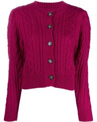 Étoile Isabel Marant Cable Knit Cardigan - Pink