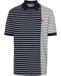 Burberry Poloshirt Met Contrasterende Streep - Blauw