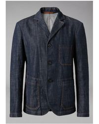 Giorgio Armani - Garment-dyed Denim Jacket - Lyst