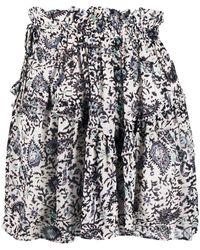 Étoile Isabel Marant Paisley-print Mini Skirt - Black