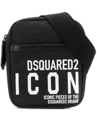 DSquared² Marsupio Icon con stampa - Nero